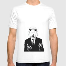 GQ Trooper White MEDIUM Mens Fitted Tee