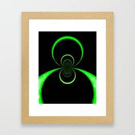Colliding Tubes Framed Art Print