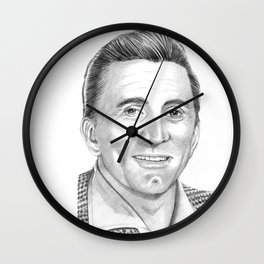 Kirk Douglas Portrait Wall Clock