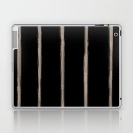 Skinny Strokes Gapped Vertical Nude on Black Laptop & iPad Skin