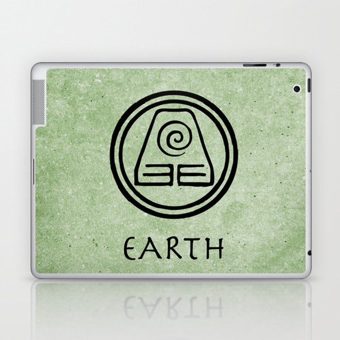 Avatar Last Airbender Elements Earth Laptop Ipad Skin By