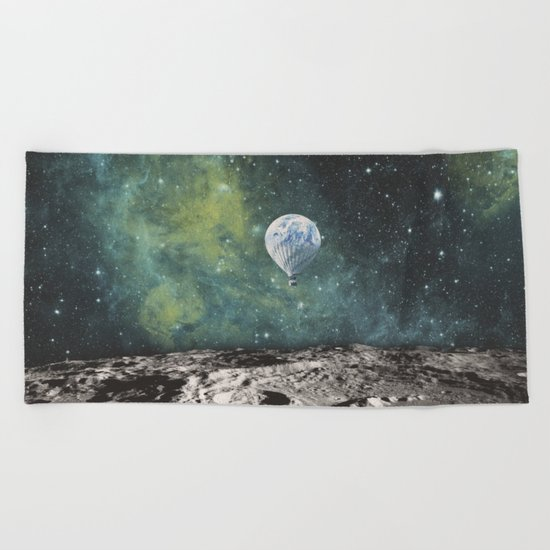 FLOATING THROUGH SPACE Beach Towel