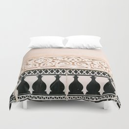 Graphic tile pattern | Moroccan Arabic tiles in earth tones. | Pastel film marrakech photography Duvet Cover