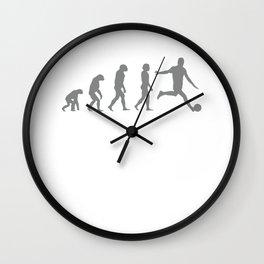 Football player evolution Wall Clock
