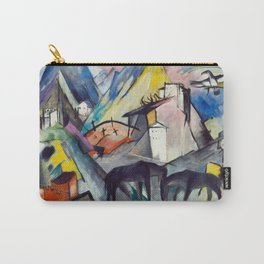 "Franz Marc ""The Unfortunate Land of Tyrol"" Carry-All Pouch"