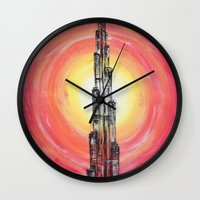 the national Wall Clocks featuring National Pride by sladja