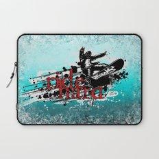 ride hard - snow Laptop Sleeve