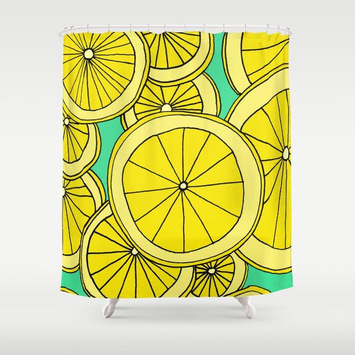 Lemons by Emma Freeman Designs Shower Curtain