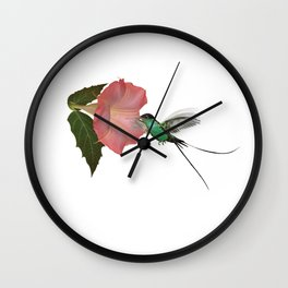Trumpet Flower & Hummingbird Wall Clock