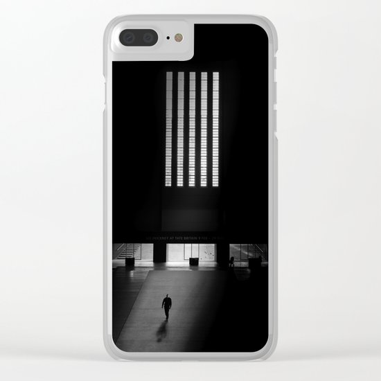 black white photo Clear iPhone Case