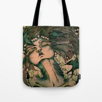 siren Tote Bags featuring Siren by JenniferLove