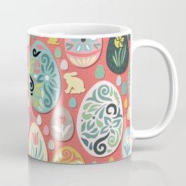 paper easter eggs and bunnies Coffee Mug