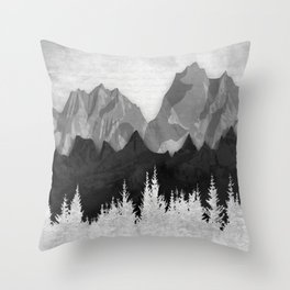 Layered Landscapes Throw Pillow