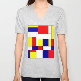 Mondrian #37 Unisex V-Neck