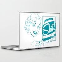 shit Laptop & iPad Skins featuring Shit!  by Plan 9 Design