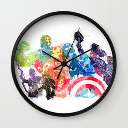 Iconic Comic Book Super Heroes ft. Iron Man  Wall Clock
