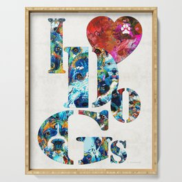 I Love Dogs by Sharon Cummings Serving Tray