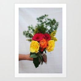 handful of flowers Art Print