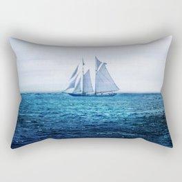 Sailing Ship on the Sea Rectangular Pillow
