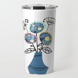 Quilling, flowers in vase 2 Travel Mug
