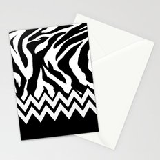 Zebra Chevron Stationery Cards