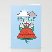 illuminati Stationery Cards featuring Illuminati by Tshirtbaba