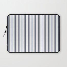 Dark Sargasso Blue Mattress Ticking Wide Striped Pattern - Fall Fashion 2018 Laptop Sleeve