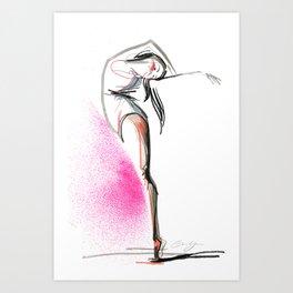 Expressive Dance Drawing Art Print