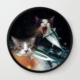 Meowfish Wall Clock