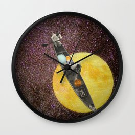 Fishing for the Moon Wall Clock