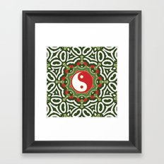 Holiday Festive Balance Yin Yang Framed Art Print