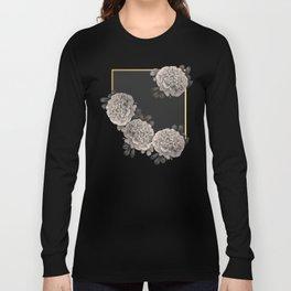 Flowers on a winter night Long Sleeve T-shirt