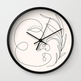 Abstract femme, pearl Wall Clock