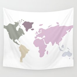 sweet soft modern world map Wall Tapestry