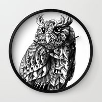bioworkz Wall Clocks featuring Owl 2.0 by BIOWORKZ