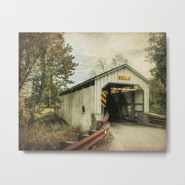 Keller's Mill Covered Bridge Metal Print