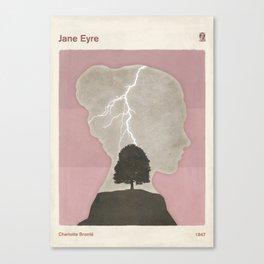 Charlotte Brontë Jane Eyre - Minimalist literary design Canvas Print