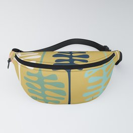 Abstract jungle - mustard Fanny Pack