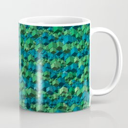 Green Cubes Coffee Mug