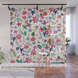 """The earth laughs in flowers"" Wall Mural"