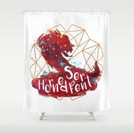 Horned Serpent Shower Curtain