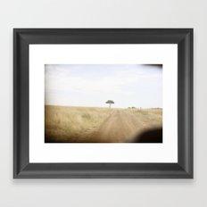 blurred vision::kenya Framed Art Print
