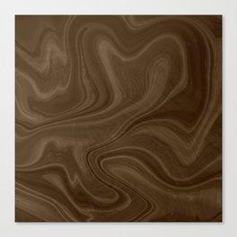 Chocolate Brown Swirl Canvas Print
