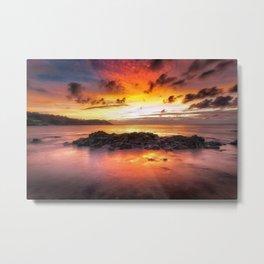 Sunrise at Langland Bay Metal Print