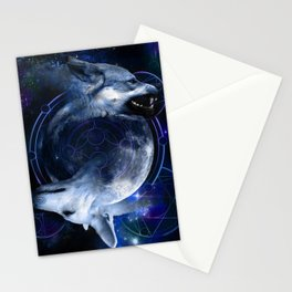 Two Wolves Stationery Cards