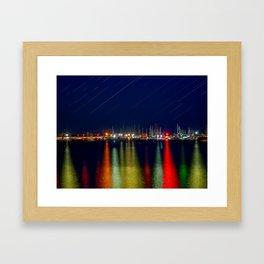 Lights. Framed Art Print