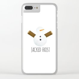 Jacked Frost Clear iPhone Case