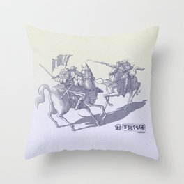 Modern Samurais Throw Pillow
