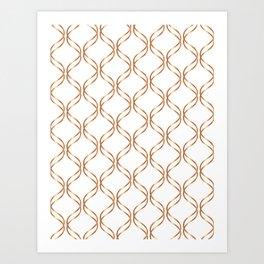 Double Helix - Rose Gold #676 Art Print