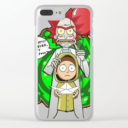 Morty and Rick Stephen King's It Pennywise Clear iPhone Case